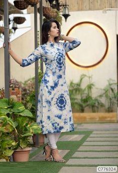 Indian Designer Outfits, Designer Dresses, Designer Kurtis, Designer Wear, Shibori Sarees, Embroidery Designs, Frock For Women, Printed Kurti, Printed Cotton