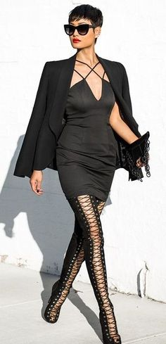 Totally Black  Chic Style by Micah Gianneli