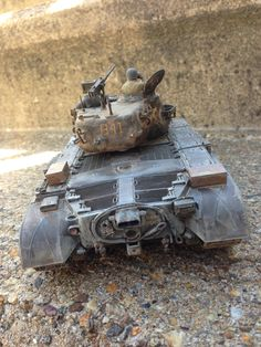 1/35 Scale plastic model of tank by Mike Ragonese