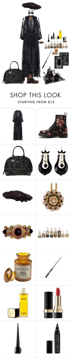 """Untitled #767"" by shulabond on Polyvore featuring Elie Saab, Dr. Martens, Rock Rebel, Paddywax, Albertine, Chanel, Dolce&Gabbana, Christian Louboutin and CARGO"