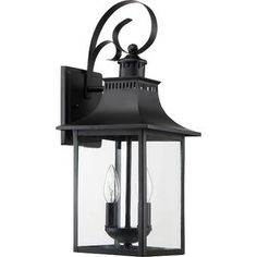 Buy the Quoizel Mystic Black Direct. Shop for the Quoizel Mystic Black Chancellor 2 Light High Outdoor Wall Sconce with Clear Glass Shade and save. Outdoor Wall Lantern, Outdoor Wall Sconce, Outdoor Wall Lighting, Outdoor Walls, Exterior Lighting, Lighting Ideas, Outdoor Wall Light Fixtures, Entry Lighting, Garage Lighting