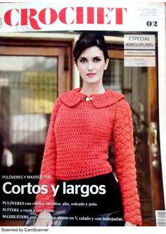 Página 1 de 24 Crochet Book Cover, Crochet Books, Knit Crochet, Knitting Magazine, Crochet Magazine, Shibori, Simply Crochet, Knit Fashion, Crochet Clothes
