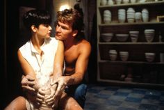 Demi Moore and Patrick Swayze in the romantic film Ghost Patrick Swayze, Kevin Costner, Demi Moore, Robin Williams, Brad Pitt, Pulp Fiction, Thelma Louise, Best Romantic Movies, Most Romantic