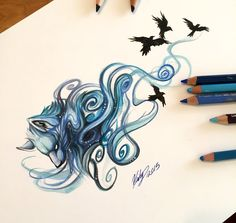 185- Blue Mystic Wolf by Lucky978 on DeviantArt