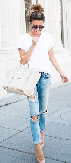 Designer Tote Everyday Casual Stylish Outfit Idea by Hello Fashion