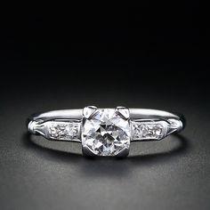 .71 carat 'D' color European Cut Diamond Vintage Solitaire