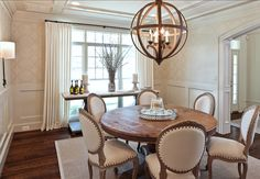 Dining Room with round table. #diningroom #Interiors
