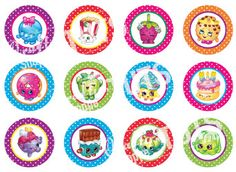 Free Printable Shopkins Bottle Cap Images For Crafts PDF, Silhouette Cameo,  SVG
