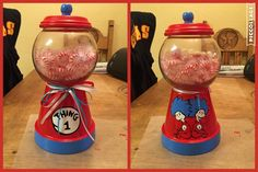 My Dr. Seuss DIY Candy Jar I painted myself.