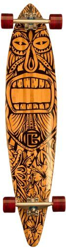 Bamboo Skateboards Hard Good Tiki Man Long Board Complete 44 x 95Inch Natural Top Pintail -- To view further for this item, visit the image link. This is an Amazon Affiliate links.
