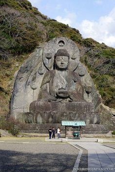 The Nihonji Temple Buddha Statue on Nokogiriyama in Chiba Prefecture.