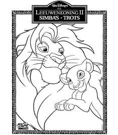 Pin Simba E Nala Disegni Da Colorare Per Bambini Il Re Viewinviteco