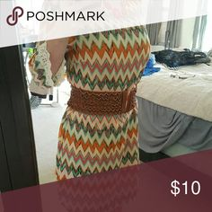 NWOT! Chevron dress Another item sitting in my closet never to be worn! Tag reads size 11, definitely runs small! Lined with lace detail Xtraordinary Dresses Mini