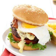 Eggs Benedict Burgers - there is nothing better then a burger with an egg on top!