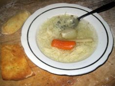 My grandma makes the best ever chicken noodle soup. She makes the soup out of carrots, onions and parsley root. She also makes her own noodles. Visit the website for the easy illustrated recipe with photos of each step. Slovak Recipes, Czech Recipes, Hungarian Recipes, Ethnic Recipes, Hungarian Food, Chowder Recipes, Soup Recipes, Cooking Recipes