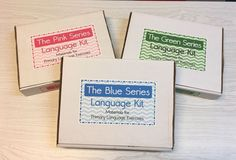 The Pink, Blue & Green Series - 3 Complete Language Kits - Montessori Materials