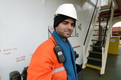 Everything about a ship is hard, cold, metal. I mean, what's it like to have a walkie-talkie pinned to your shoulder? Our scarves and hats provide not only warmth, but softness. http://seamenschurch.org/cas