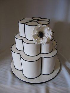 Chanel Petal wedding cake