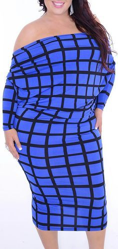 Erstwhile (Plus/Blue/Black)-Great Glam is the web's best sexy plus size online store clothing website for 1X 2X and 3X clothes for women and juniors.