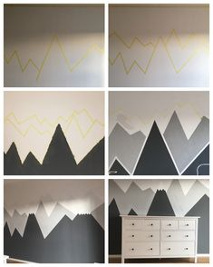 Kinderzimmergestaltung DIY - Bergpanorama