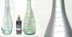 Crea hermosas decoraciones para tu casa o para una fiesta usando botellas de cristal pintadas con acabados metálicos. La técnica es realmen... Bedazzled Bottle, Reception Decorations, Ideas Para, Christmas Ideas, Wedding, Home Decor, Home, Painted Bottles, Crafts With Bottles