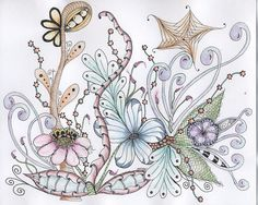 Whimsy Garden Drawing