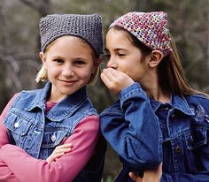 Too-Cute Kerchiefs ~ free pattern to my email from leisurearts.com