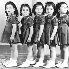 Dionne Quintuplets   I love this picture