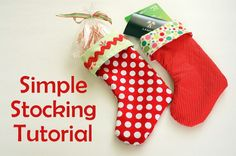 Christmas Stocking #Tutorials #patterns #crafts #sewing #stocking #christmas #holiday #tipjunkie