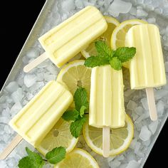 Limoncello Pudding Pops: How delicious! (For adults of course.) Recipe at at I'm Bored, Let's Go