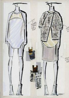 Fashion Sketchbook - fashion design sketches; fashion student portfolio // Sarah Conlon