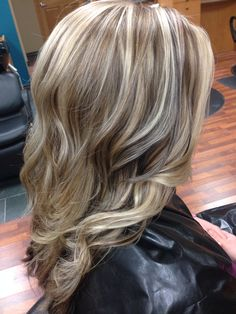 Dimensional blonde highlights.