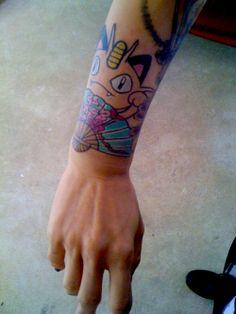meowth pokemon tattoo
