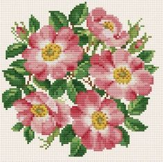 Wild Roses Bouquet - Cross Stitch Pattern