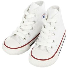 Converse Childrens white high-top trainers (91 PLN) ❤ liked on Polyvore featuring baby, kids, baby girl shoes, baby shoes, baby boy clothes and children's footwear