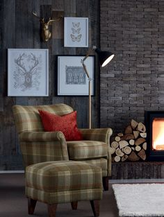 Totally tartan.  pictures, lamp and chair would look fabulous in my lounge :O)