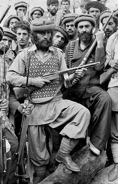 Afghan Mujahideen During 1979-1980 armed with a nice Soviet sub-machinegun.   Best of Web Shrine