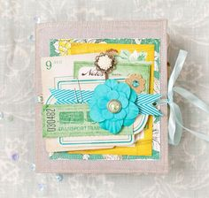BEAUTIFUL Mini Album using Crate Paper's DIY Collection
