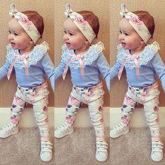 Baby Girl beautiul en Coton doux Fleur Bandeau