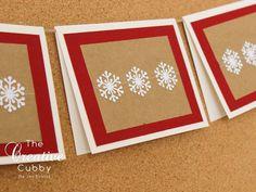 Sewn Snowflake Christmas Card (set of 10)