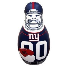 """NFL New York Giants 40'' Inflatable Tackle Buddy Punching Bag by Fremont Die. $28.25. Sand weighted for bounce back action. 40"""" Tall inflatable punching bag. Imported. 2-Sided graphics. New York Giants 40'' Inflatable Tackle Buddy Punching Bag2-Sided graphics40"""" Tall inflatable punching bagSand weighted for bounce back actionOfficially licensed NFL productImportedFor ages 3 and up40"""" Tall inflatable punching bag2-Sided graphicsSand weighted for bounce back actionImpo..."""