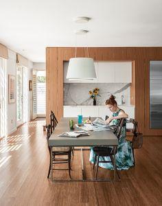 Fishers Island prefab interior dining room