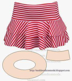 Circle skirt with yoke Diy Clothing, Sewing Clothes, Clothing Patterns, Dress Patterns, Fashion Sewing, Diy Fashion, Ideias Fashion, Fashion Outfits, Costura Fashion