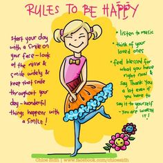 Rules to be Happy - Smile! - Digital Art by Premalatha Sunderam in Illustrations knitted with love at touchtalent 51591