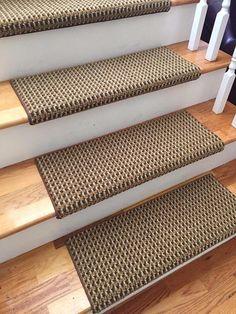 Best Meadow Sisal Carpet Stair Treads W Hook Loop Velcro 400 x 300