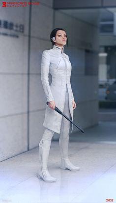 "ArtStation - ""Mirror's Edge: Catalyst"" - Cat - Character Concept, Per Haagensen Cyberpunk Mode, Cyberpunk Fashion, Cat Character, Character Outfits, Character Concept, Concept Art, Mirrors Edge Catalyst, Moderne Outfits, Sci Fi Characters"