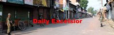 Curfew continues in Pulwama town on fourth dayExcelsior\Younis khaliq