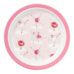 Ballerinas Melamine Rim Plate  sc 1 st  Pinterest & Tiny Trains Melamine Plate | kids | Pinterest | Babies