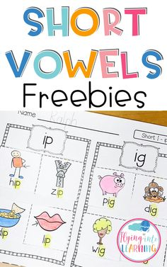 Short Vowel Word Families Picture Sorts There are 11 picture sorts included for your students to get a lot of practice with sorting pictu. Short Vowel Activities, Word Family Activities, Cvc Word Families, Phonics Activities, Reading Activities, Family Games, Classroom Activities, Classroom Ideas, Short Vowel Games