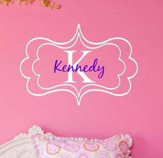 Kids Name Wall Decal with Initial and Name Girls by landbgraphics, $34.00